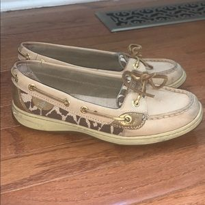 Sperry Top Sider. Women's 7.5.  Animal print!